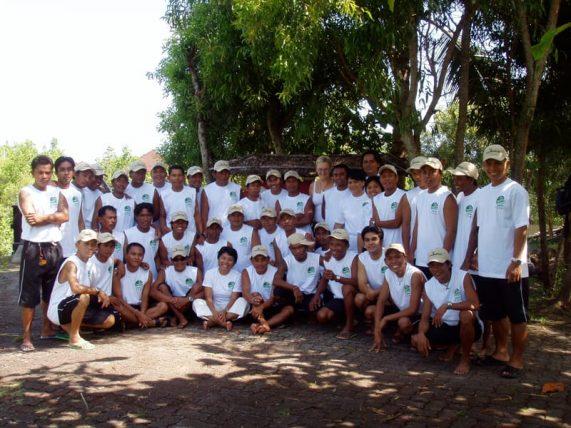 Thalassa Dive Center team in 2001
