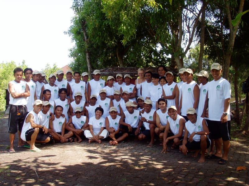 Thalassa Dive Center Team im Jahr 2001
