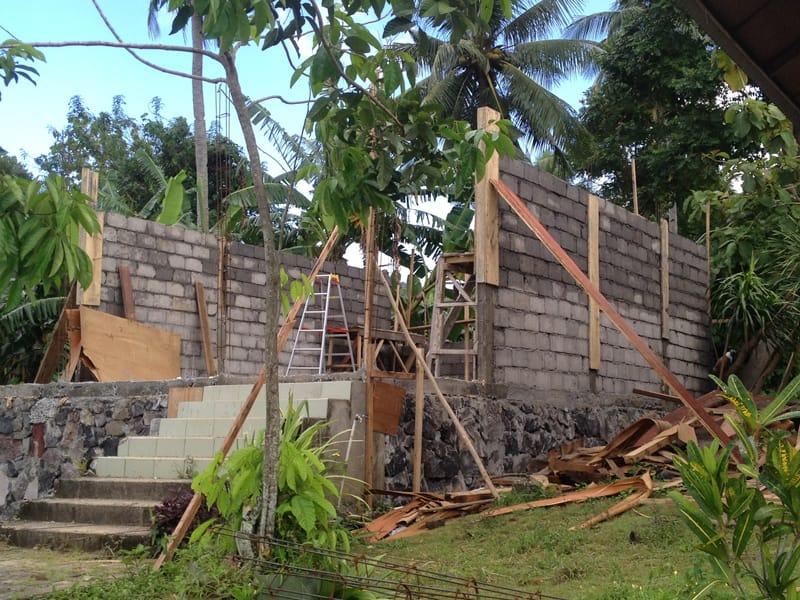 A bungalow under construction