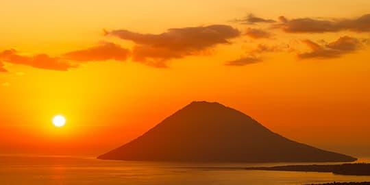 Sunset over Bunaken National Marine Park
