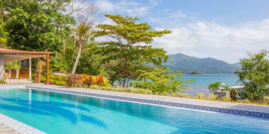 Swimming pool with a view at Lembeh