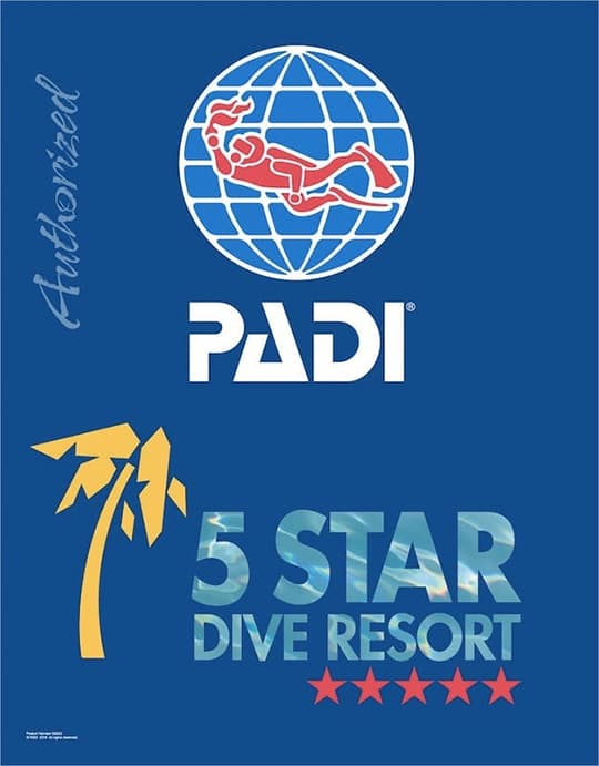 PADI endorses us to teach you diving properly