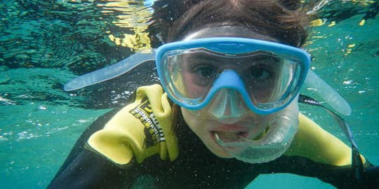 Snorkeling is a lot of fun for kids