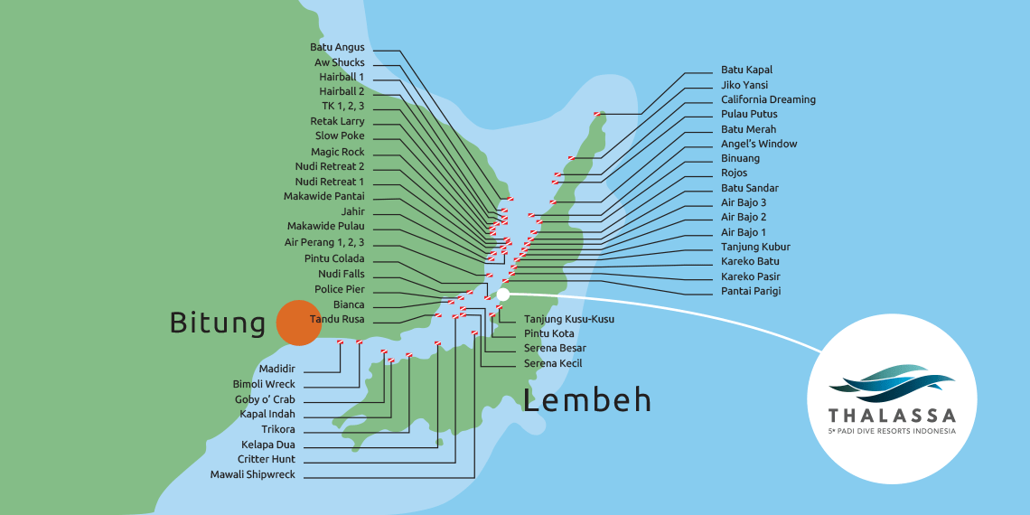 Lembeh Island and the Lembeh Strait dive sites